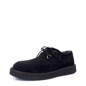 Creepers Shoes Black Suede Platform Sole. Classic goth punk look. Made in Portugal. Creepers shoes mens & womens.