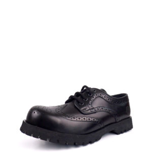 Over view of leather brogues steel toe rangers shoes