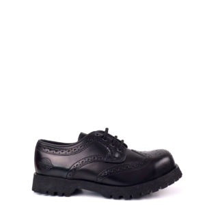 Outside view of leather brogues steel toe rangers shoes