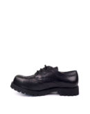 Inside view of leather brogues steel toe rangers shoes