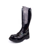 Over view of Rangers 20 Eyelet Steel toe leather boots black goth punk