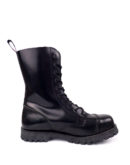 inside view of Rangers Boots 10 Eyelets steel toe leather boots black goth punk