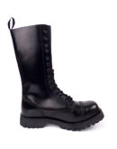 inside view of Rangers Boots 14 Eyelets steel toe leather boots black goth punk