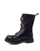 inside view of Rangers Boots 2 Buckles steel toe leather boots black goth punk