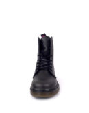Front view of Vegan Synthetic Ankle Boot 8 Eyelet goth punk