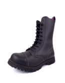 over view of vegan synthetic steel toe rangers boots 10 eyelet goth punk