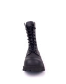 front view of vegan synthetic steel toe rangers boots 10 eyelet goth punk