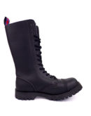 inside view of vegan synthetic steel toe rangers boots 14 eyelet goth punk